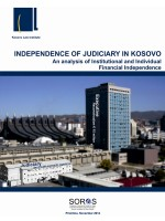 Independence of Judiciary in Kosovo - November 2012