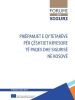 Pikepamjet e qytetareve per ceshtjet kryesore te paqes dhe sigurise ne Kosove