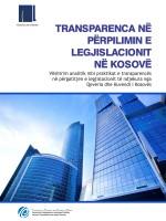 Transparenca në Përpilimin e Legjislacionit në Kosovë - 2011