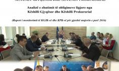 Efikasiteti dhe llogaridhenia e KGJK dhe KPK - Dhjetor 2016